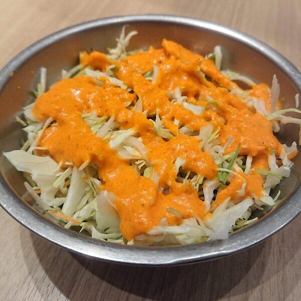 オレンジ色のドレッシング
